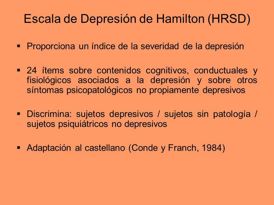 Escala de Depresión de Hamilton (HRSD)