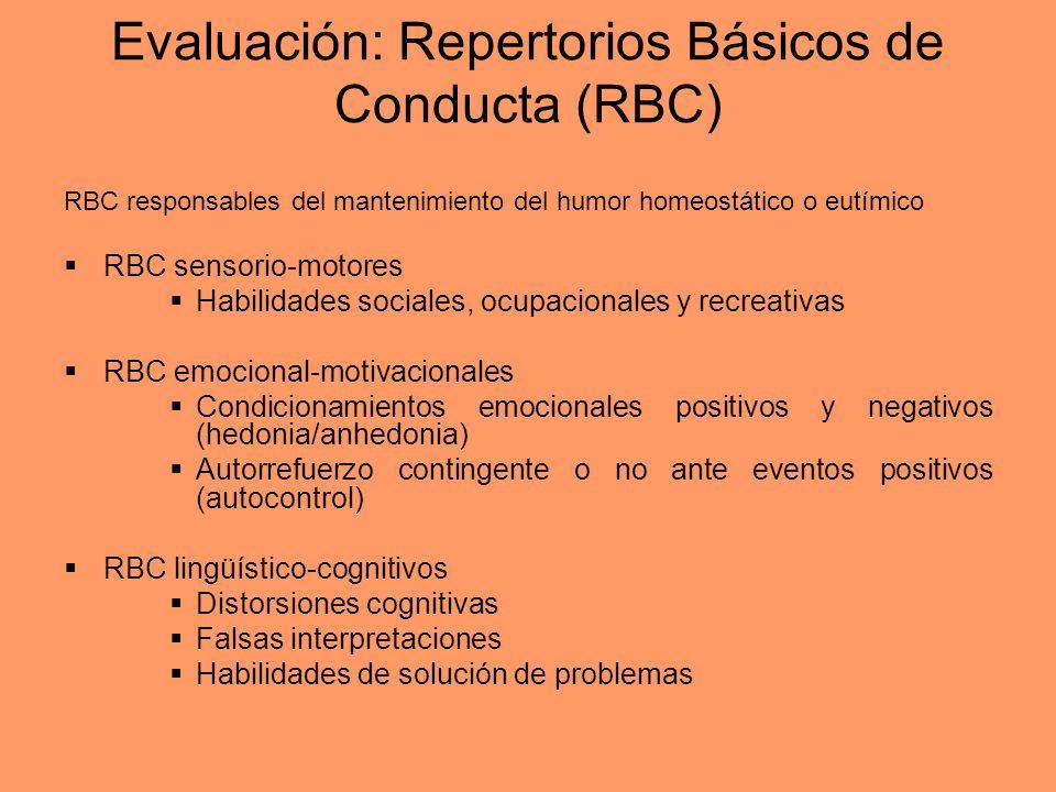 Evaluación: Repertorios Básicos de Conducta (RBC)