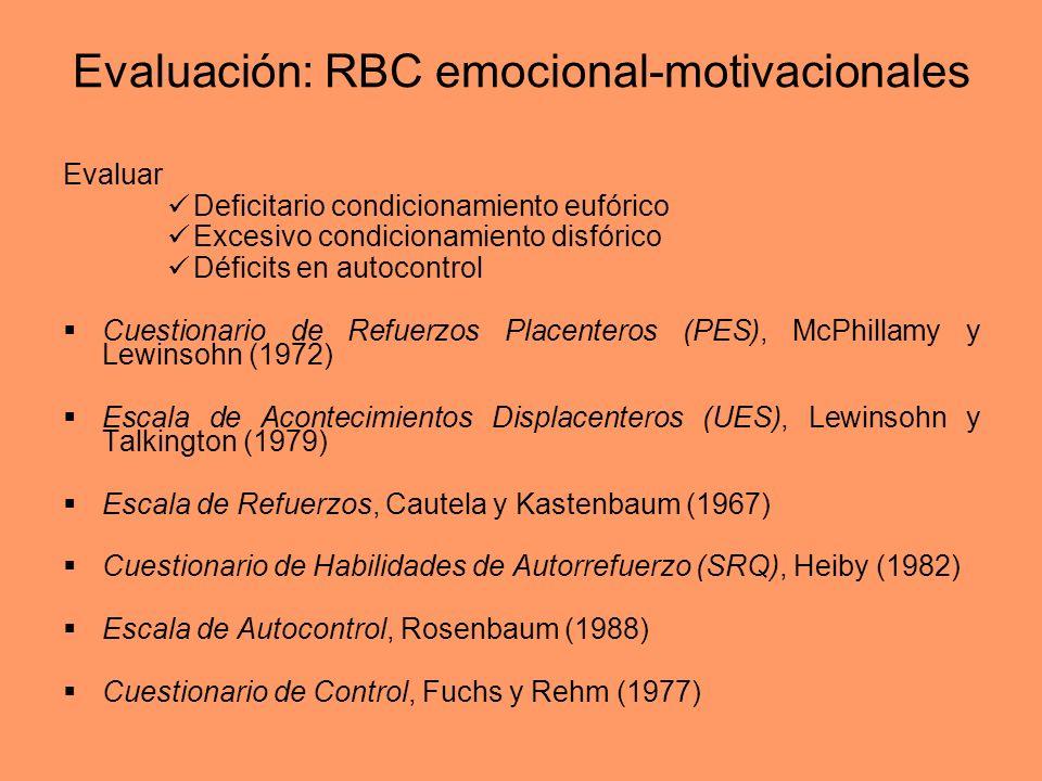Evaluación: RBC emocional-motivacionales