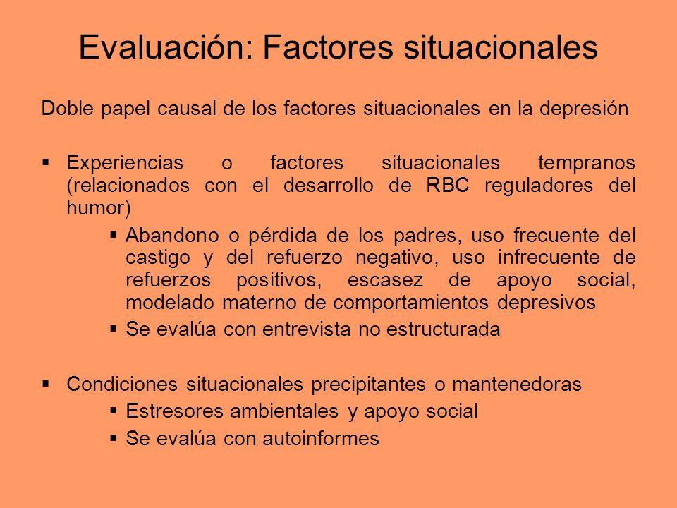 Evaluación: Factores situacionales