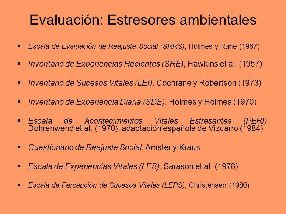 Evaluación: Estresores ambientales