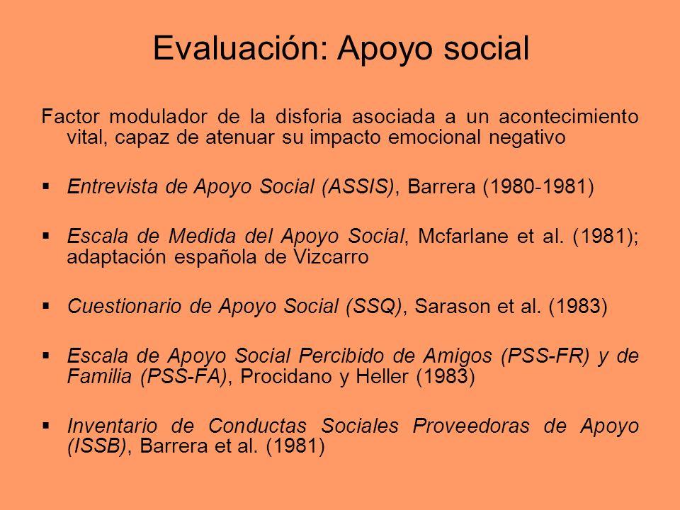 Evaluación: Apoyo social