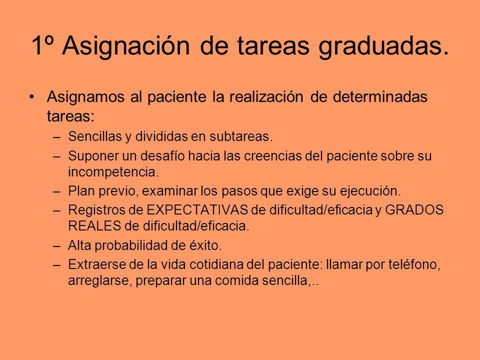 1º Asignación de tareas graduadas.
