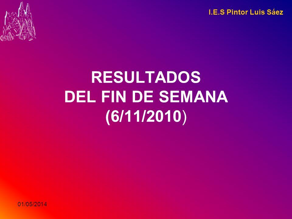 RESULTADOS DEL FIN DE SEMANA (6/11/2010)