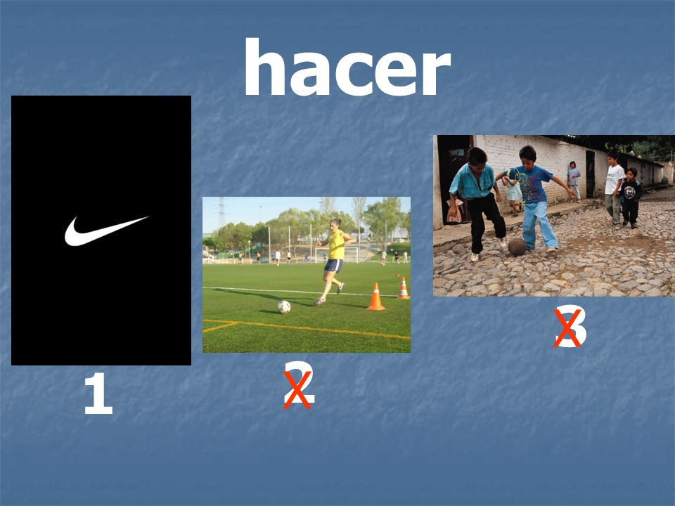 hacer 3 X 2 1 X