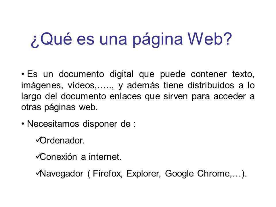 ¿Qué es una página Web