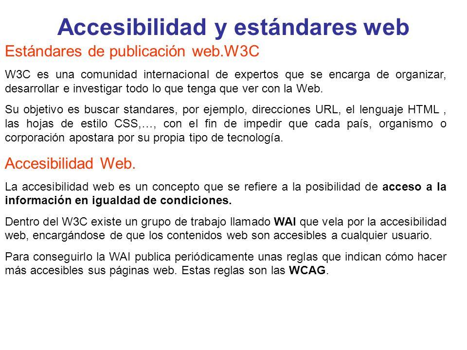 Accesibilidad y estándares web