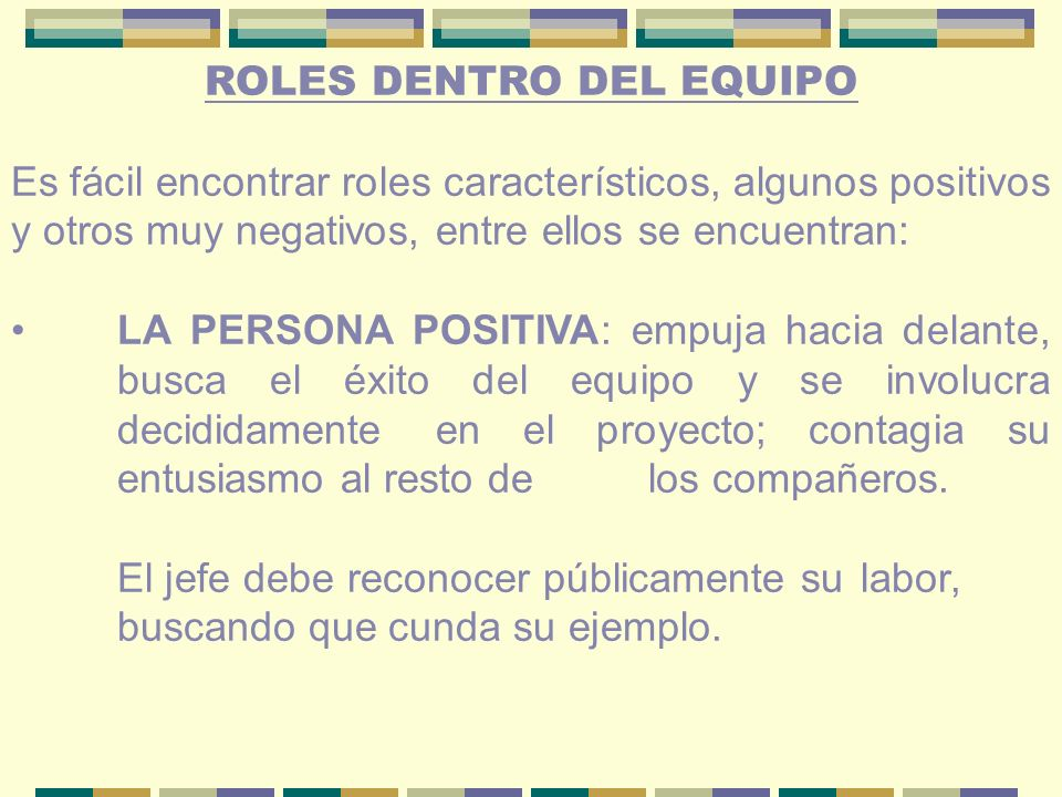ROLES DENTRO DEL EQUIPO