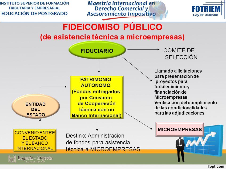 FIDEICOMISO PÚBLICO (de asistencia técnica a microempresas)