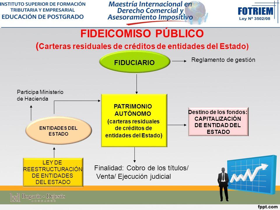 FIDEICOMISO PÚBLICO (Carteras residuales de créditos de entidades del Estado)