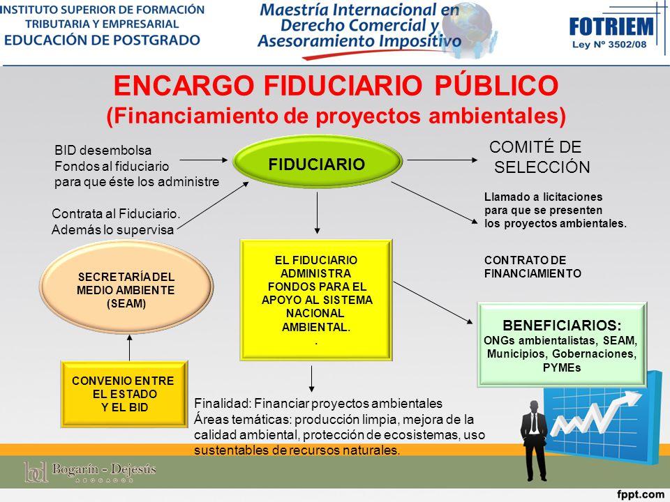 ENCARGO FIDUCIARIO PÚBLICO (Financiamiento de proyectos ambientales)