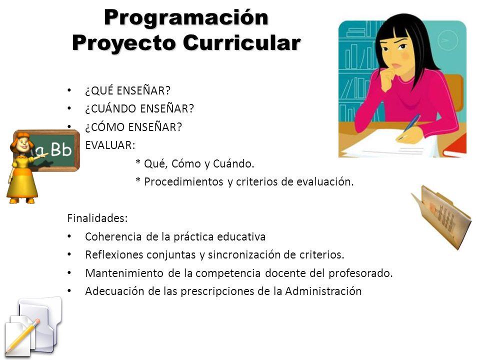 Programación Proyecto Curricular