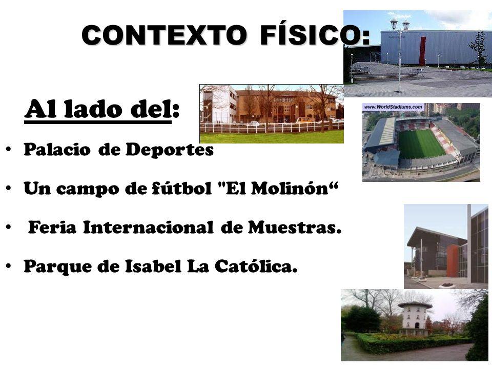 CONTEXTO FÍSICO: Al lado del: Palacio de Deportes