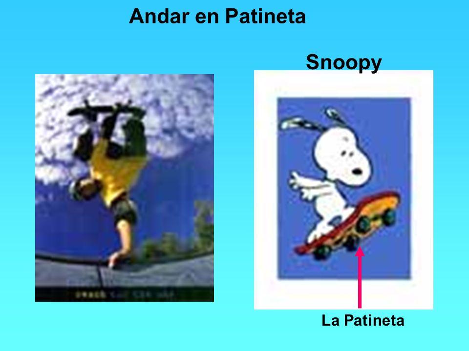 Andar en Patineta Snoopy La Patineta