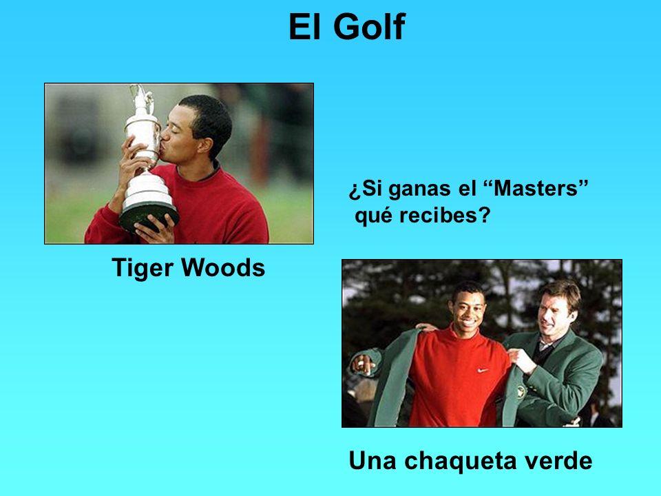 El Golf Tiger Woods Una chaqueta verde ¿Si ganas el Masters