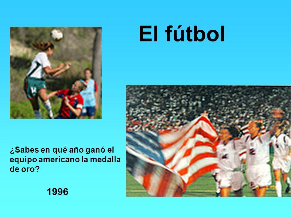 El fútbol 1996 ¿Sabes en qué año ganó el equipo americano la medalla