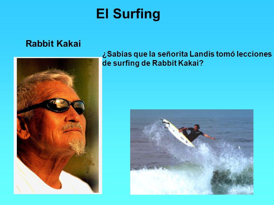 El Surfing Rabbit Kakai ¿Sabías que la señorita Landis tomó lecciones