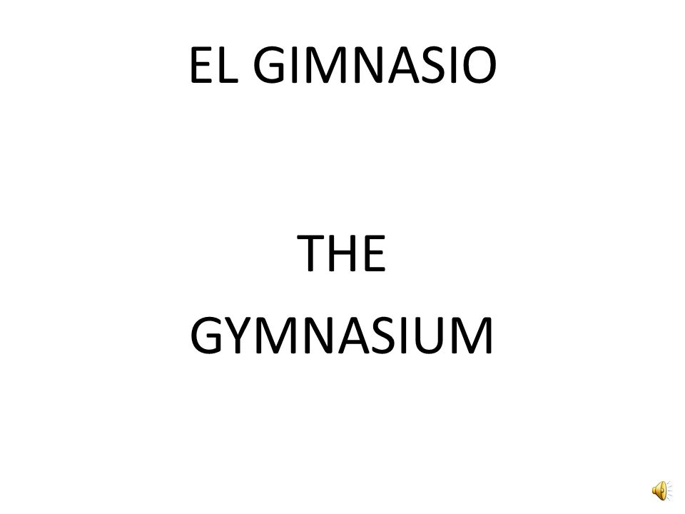 EL GIMNASIO THE GYMNASIUM