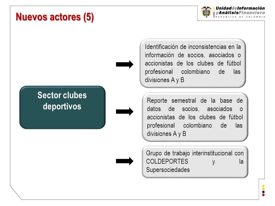 Sector clubes deportivos