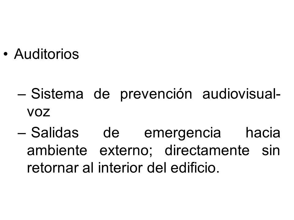 Auditorios Sistema de prevención audiovisual- voz.