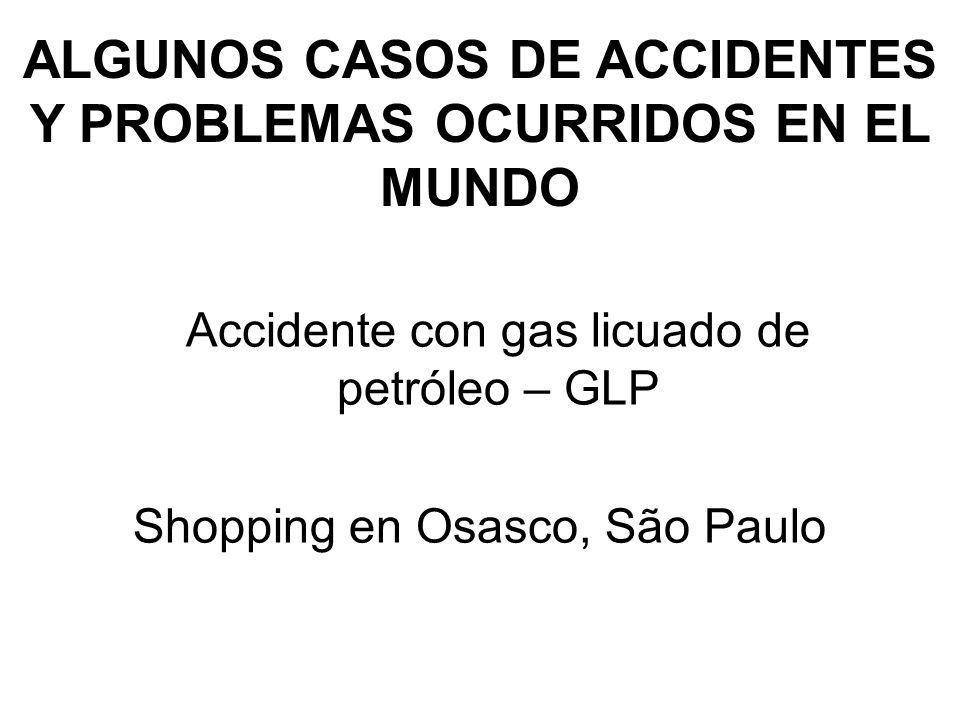 ALGUNOS CASOS DE ACCIDENTES Y PROBLEMAS OCURRIDOS EN EL MUNDO