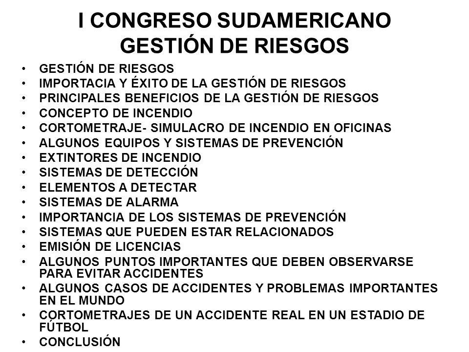 I CONGRESO SUDAMERICANO GESTIÓN DE RIESGOS