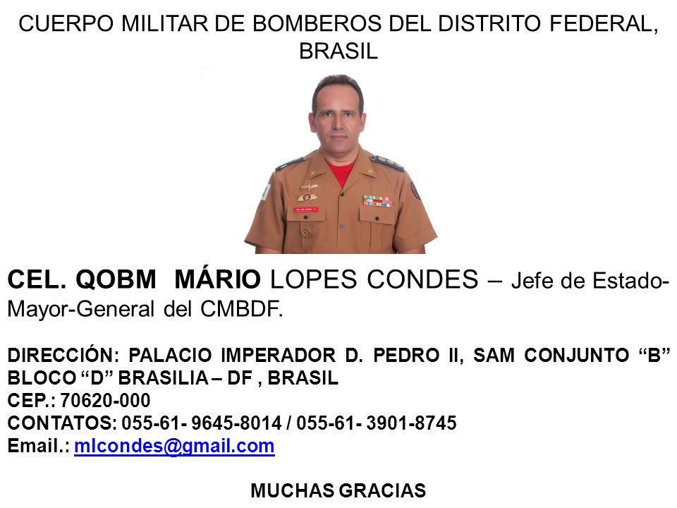 CUERPO MILITAR DE BOMBEROS DEL DISTRITO FEDERAL, BRASIL