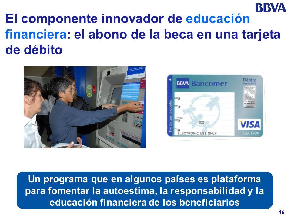 El componente innovador de educación financiera: el abono de la beca en una tarjeta de débito