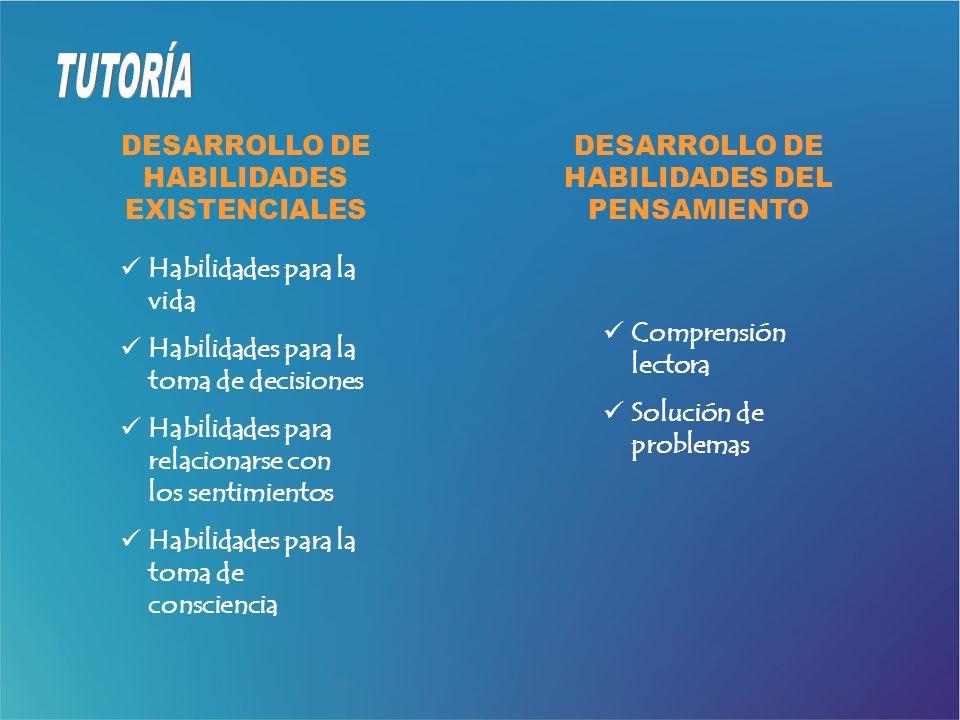 DESARROLLO DE HABILIDADES EXISTENCIALES