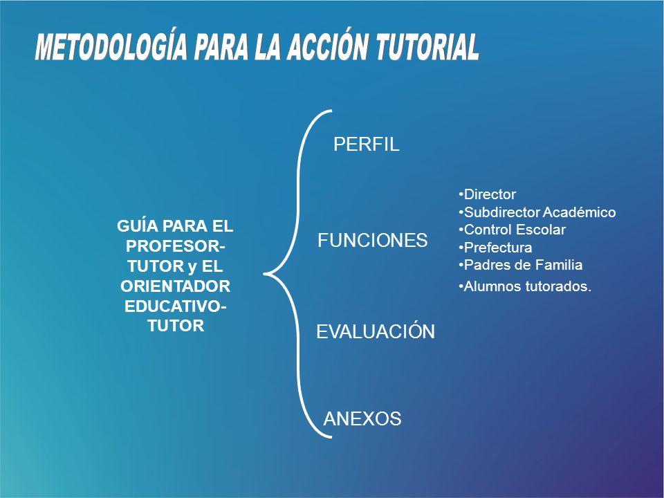 GUÍA PARA EL PROFESOR-TUTOR y EL ORIENTADOR EDUCATIVO- TUTOR
