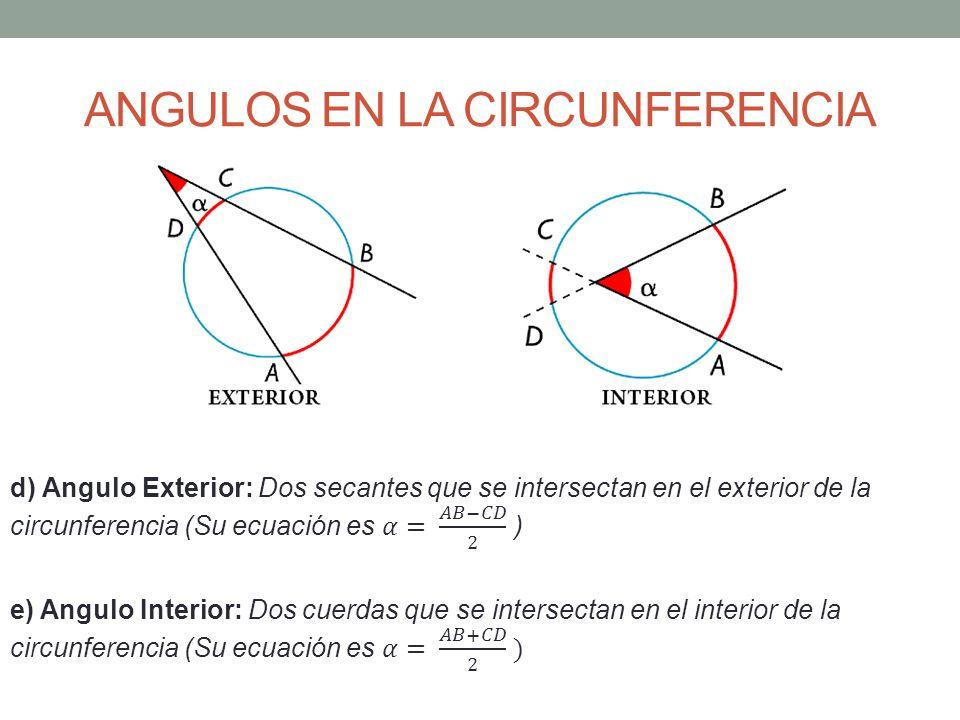 Circunferencia ppt video online descargar for Exterior a la circunferencia