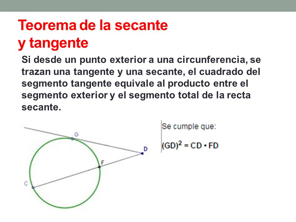 Circunferencia ppt video online descargar for Exterior tangente y secante