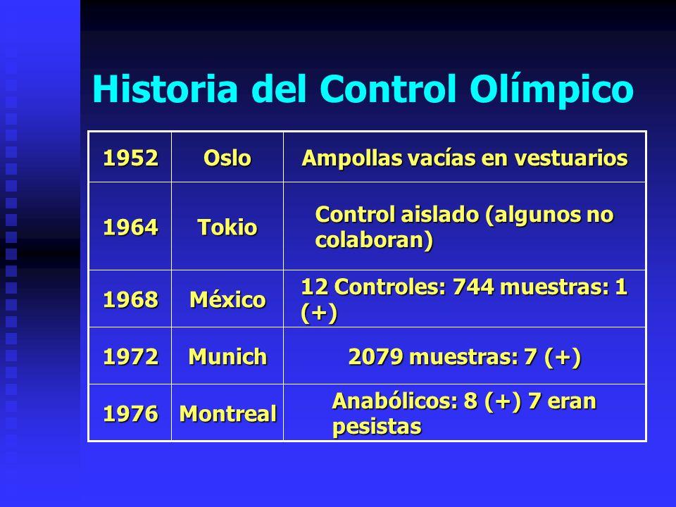Historia del Control Olímpico