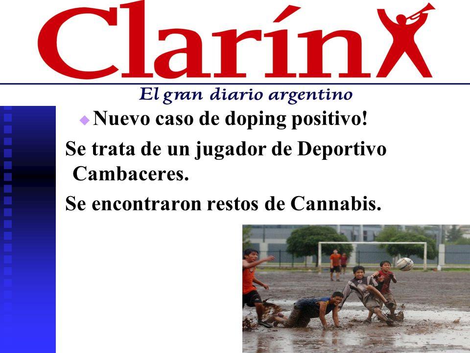 Nuevo caso de doping positivo!