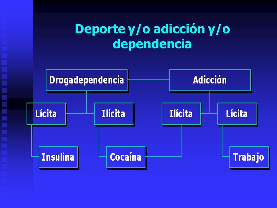 Deporte y/o adicción y/o dependencia