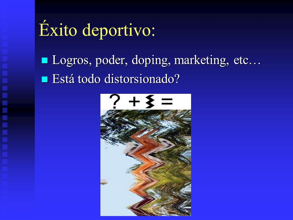 Éxito deportivo: Logros, poder, doping, marketing, etc…