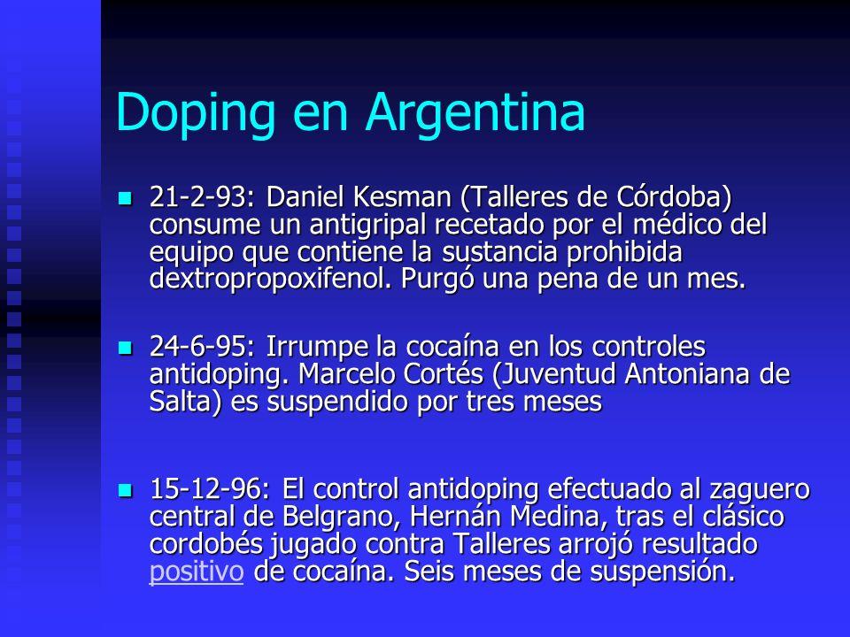 Doping en Argentina