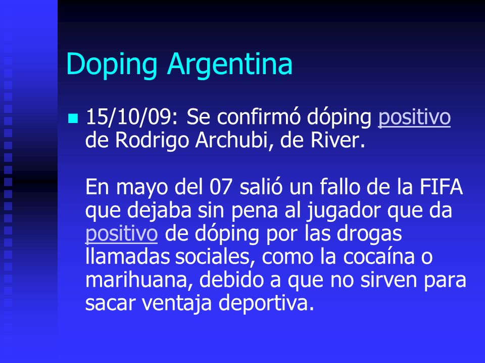 Doping Argentina