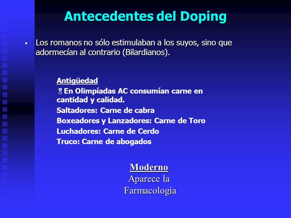 Antecedentes del Doping