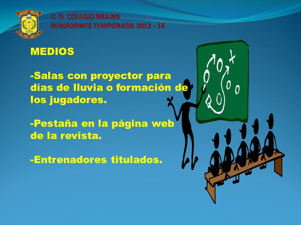 C. D. COLEGIO BRAINS BENJAMINES TEMPORADA 2013 - 14
