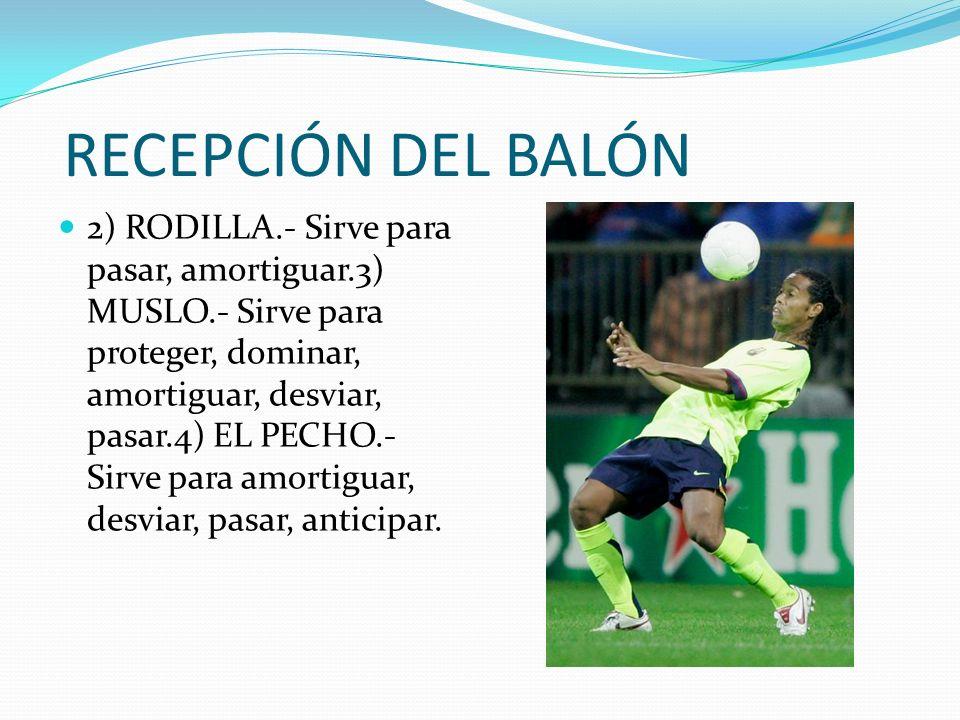 RECEPCIÓN DEL BALÓN