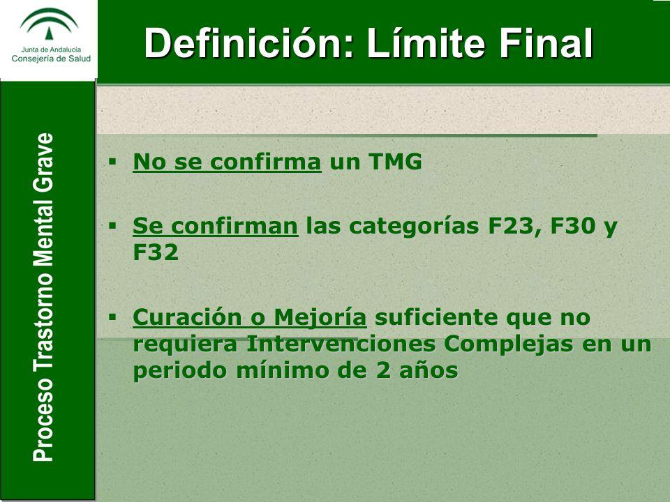 Definición: Límite Final