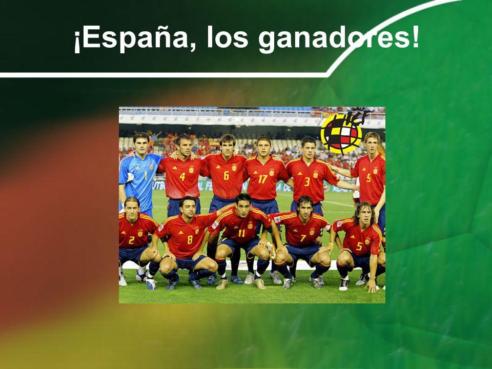 ¡España, los ganadores!