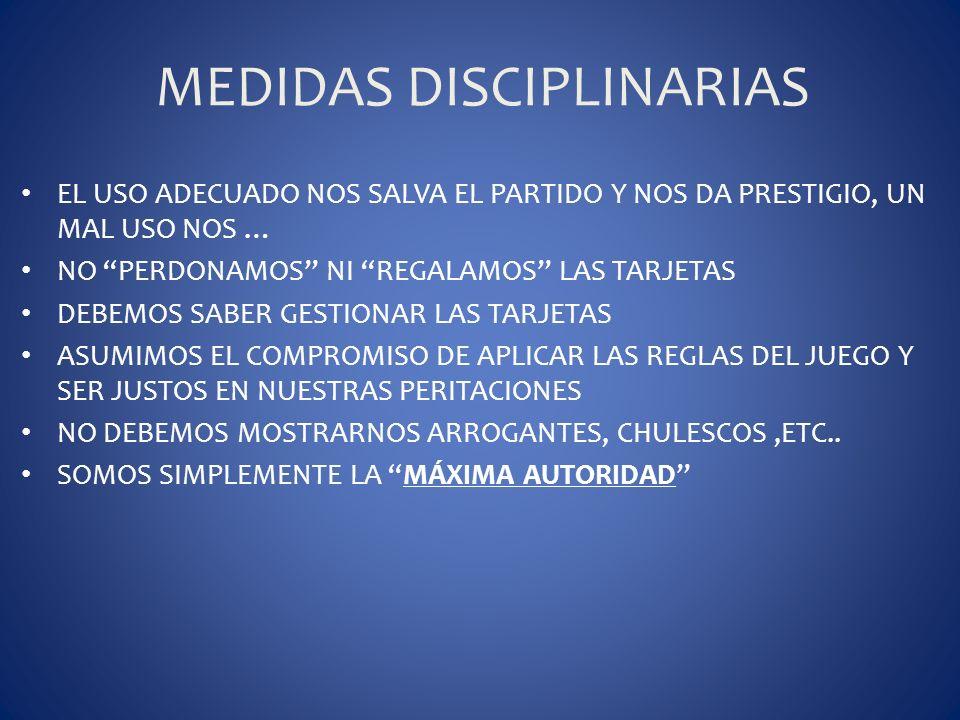 MEDIDAS DISCIPLINARIAS