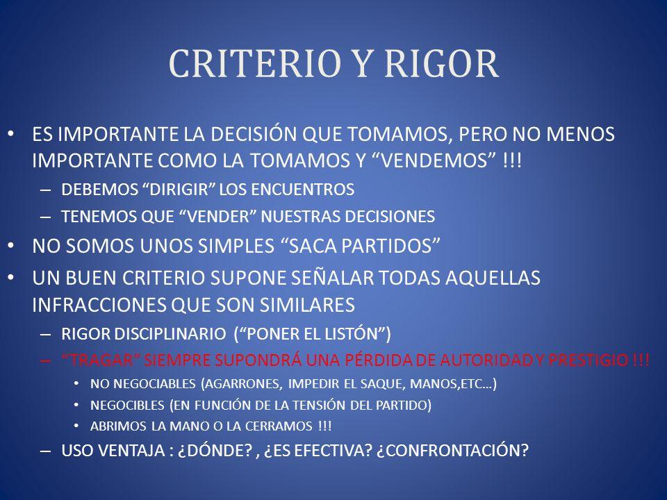 CRITERIO Y RIGOR ES IMPORTANTE LA DECISIÓN QUE TOMAMOS, PERO NO MENOS IMPORTANTE COMO LA TOMAMOS Y VENDEMOS !!!