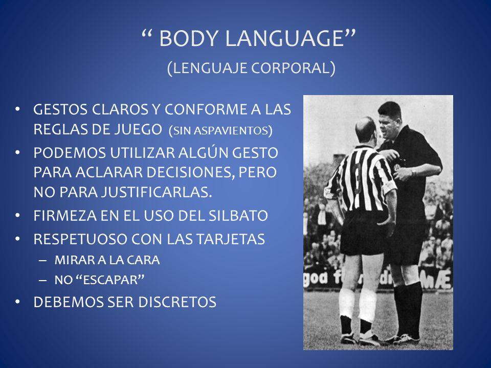 BODY LANGUAGE (LENGUAJE CORPORAL)