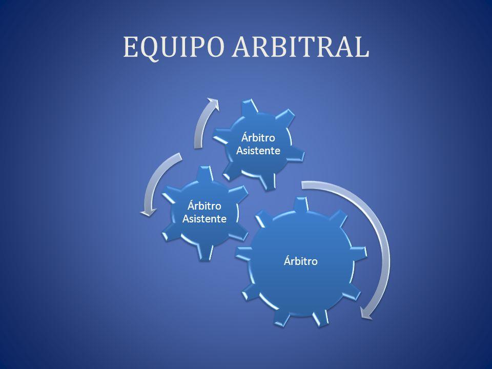 EQUIPO ARBITRAL Árbitro Árbitro Asistente