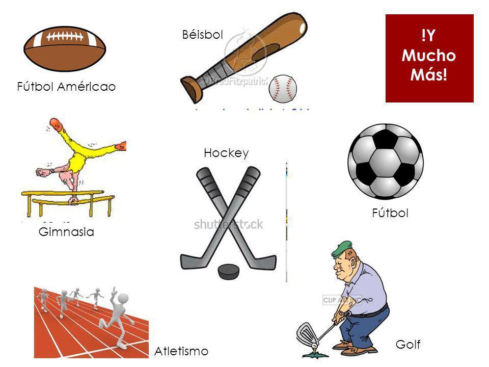 !Y Mucho Más! Béisbol Fútbol Américao Hockey Fútbol Gimnasia Golf