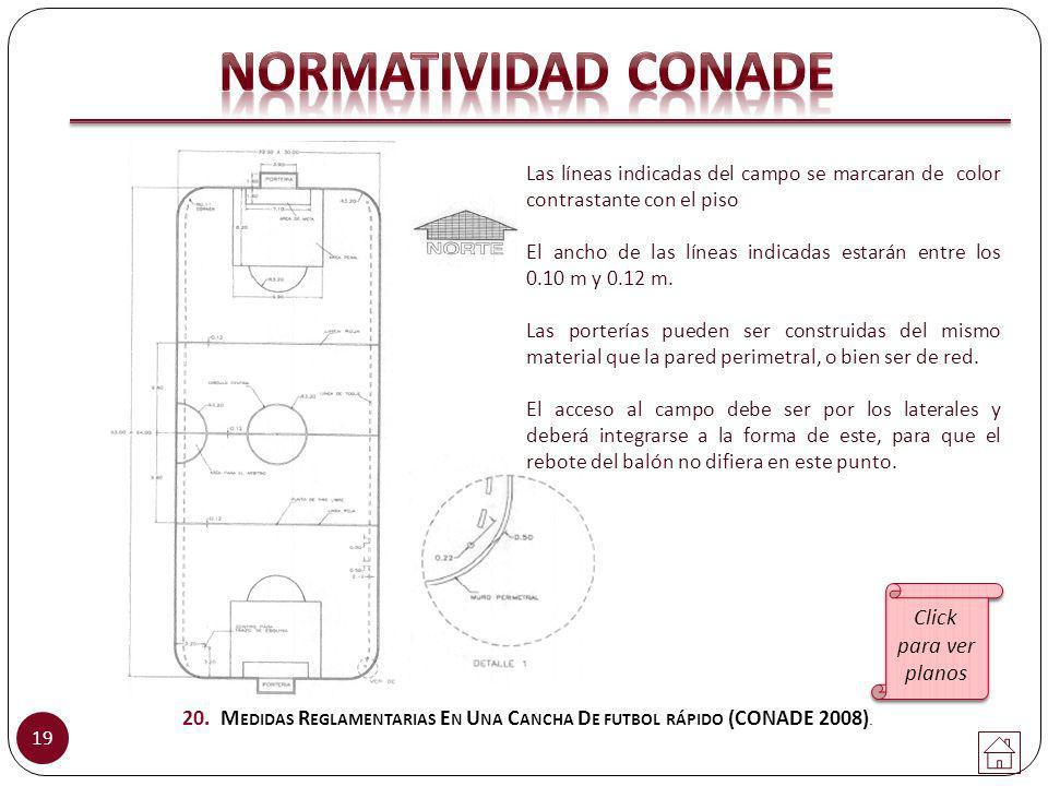 NORMATIVIDAD CONADE Click para ver planos