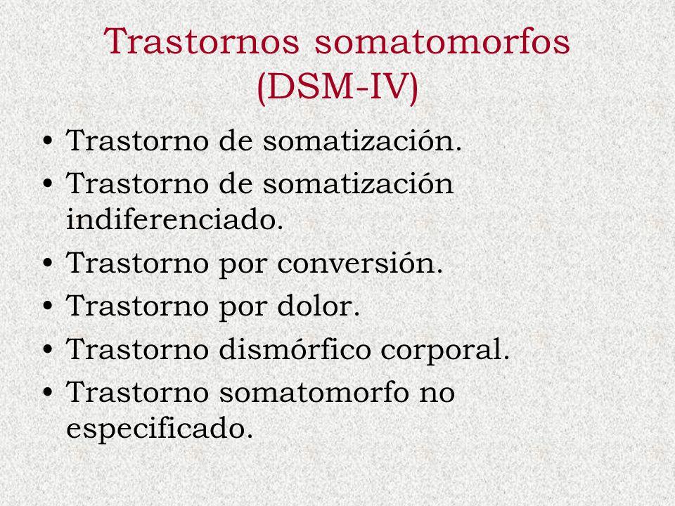 Trastornos somatomorfos (DSM-IV)